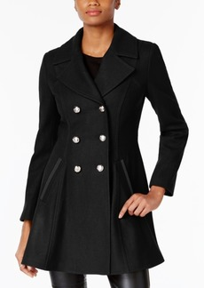 Laundry by Shelli Segal Petite Skirted Wool-Blend Peacoat, A Macy's Exclusive