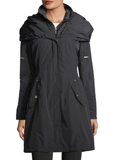 Laundry By Shelli Segal Pillow-Hood Wind-Resistant Jacket