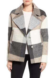Laundry by Shelli Segal Plaid Swing Coat