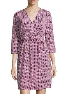 Laundry By Shelli Segal Chain-Link-Print Wrap Dress