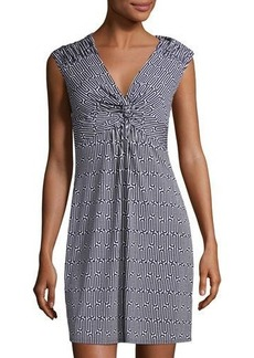 Laundry By Shelli Segal Geometric-Print Cap-Sleeve Dress