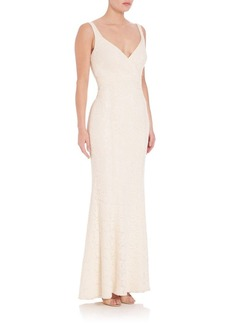 Laundry by Shelli Segal PLATINUM Scoopback Gown