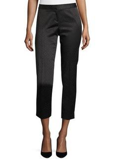 Laundry By Shelli Segal Woven Jacquard Slim Crop Pants