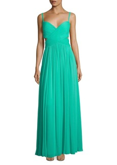 Pleated Crisscross Front Gown