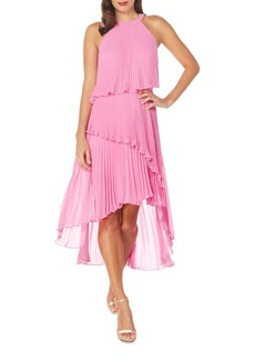 Laundry by Shelli Segal Pleated Multi-Layer Dress
