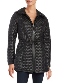 LAUNDRY BY SHELLI SEGAL Pleated Zip Front Anorak Jacket