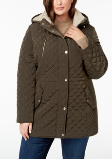 Laundry by Shelli Segal Plus Size Fleece-Lined Quilted Anorak