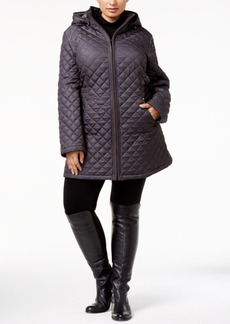 Laundry by Shelli Segal Plus Size Hooded Quilted Puffer Coat