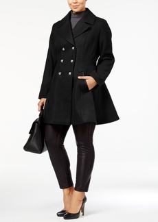 Laundry by Shelli Segal Plus Size Wool-Blend Skirted Peacoat, A Macy's Exclusive