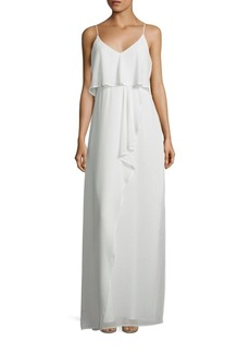 Laundry by Shelli Segal Popover Chiffon Gown