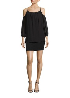 Laundry by Shelli Segal Popover Cold Shoulder Cocktail Dress
