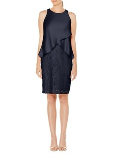 Laundry by Shelli Segal Popover Lace Cocktail Dress