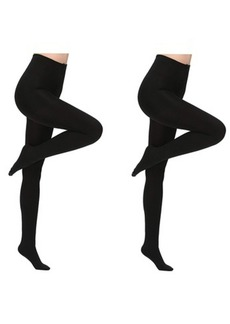 Laundry by Shelli Segal Premium Fleece Lined Tights, 2 Pack Also in Plus Size