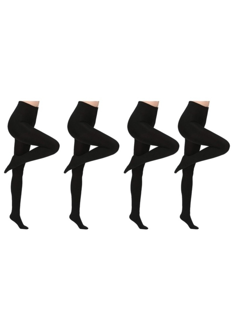 Laundry by Shelli Segal Premium Fleece Lined Tights, 4 Pack Also in Plus Size