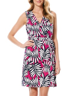 Laundry by Shelli Segal Print Jersey Wrap Dress