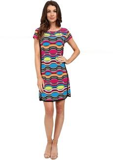 Laundry by Shelli Segal Print Matte Jersey Short Sleeve T-Dress