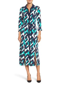 Laundry by Shelli Segal Print Midi Shirtdress