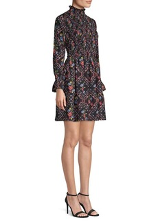 Laundry by Shelli Segal Print Smock A-Line Dress