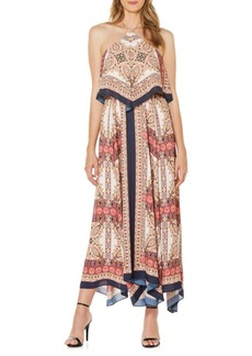 Laundry by Shelli Segal Printed A-Line Maxi Dress