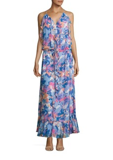 Laundry by Shelli Segal Printed Boho Ruffle Dress