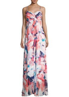 Laundry by Shelli Segal Printed Chiffon Gown