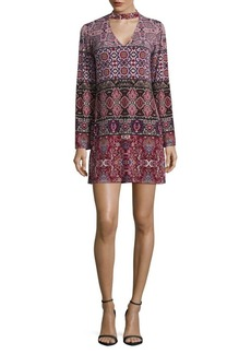 Laundry by Shelli Segal Printed Choker Dress