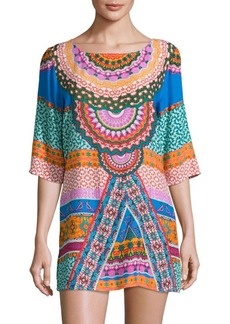 Laundry by Shelli Segal Printed Cover-Up Dress