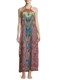 Laundry by Shelli Segal Printed Halterneck Cover-Up Dress