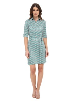 Laundry by Shelli Segal Printed Matte Jersey Shirt Dress