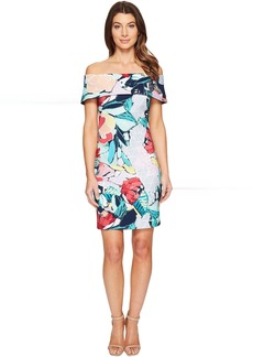 Laundry by Shelli Segal Printed Off the Shoulder Dress
