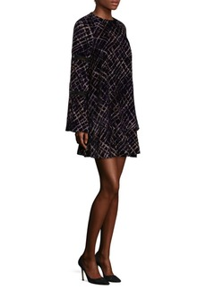 Laundry by Shelli Segal Printed Plaid Shift Dress
