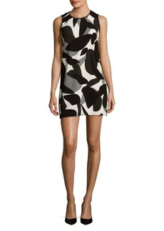 Laundry by Shelli Segal Printed Sleeveless Shift Dress