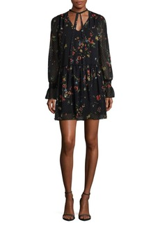 Laundry by Shelli Segal Printed Tie Neck Dress