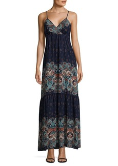 Laundry by Shelli Segal Printed Tiered Maxi Dress