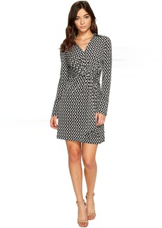 Laundry by Shelli Segal Printed Wrap Front Shirtdress