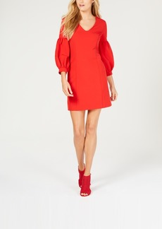 Laundry by Shelli Segal Puff-Sleeve Sheath Dress