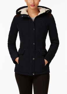 Laundry by Shelli Segal Quilted Faux-Suede-Trim Jacket