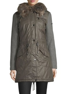 Laundry By Shelli Segal Quilted Mid-Length Coat