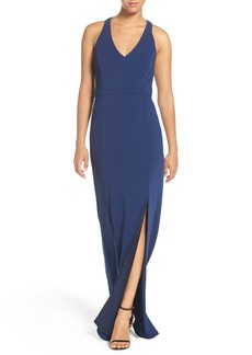 Laundry by Shelli Segal Racerback Jersey Gown