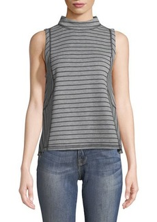 Laundry By Shelli Segal Reversible Mock-Neck Tee