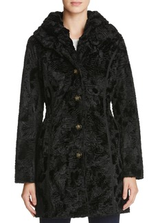 Laundry by Shelli Segal Reversible Persian Faux Lamb Fur Coat