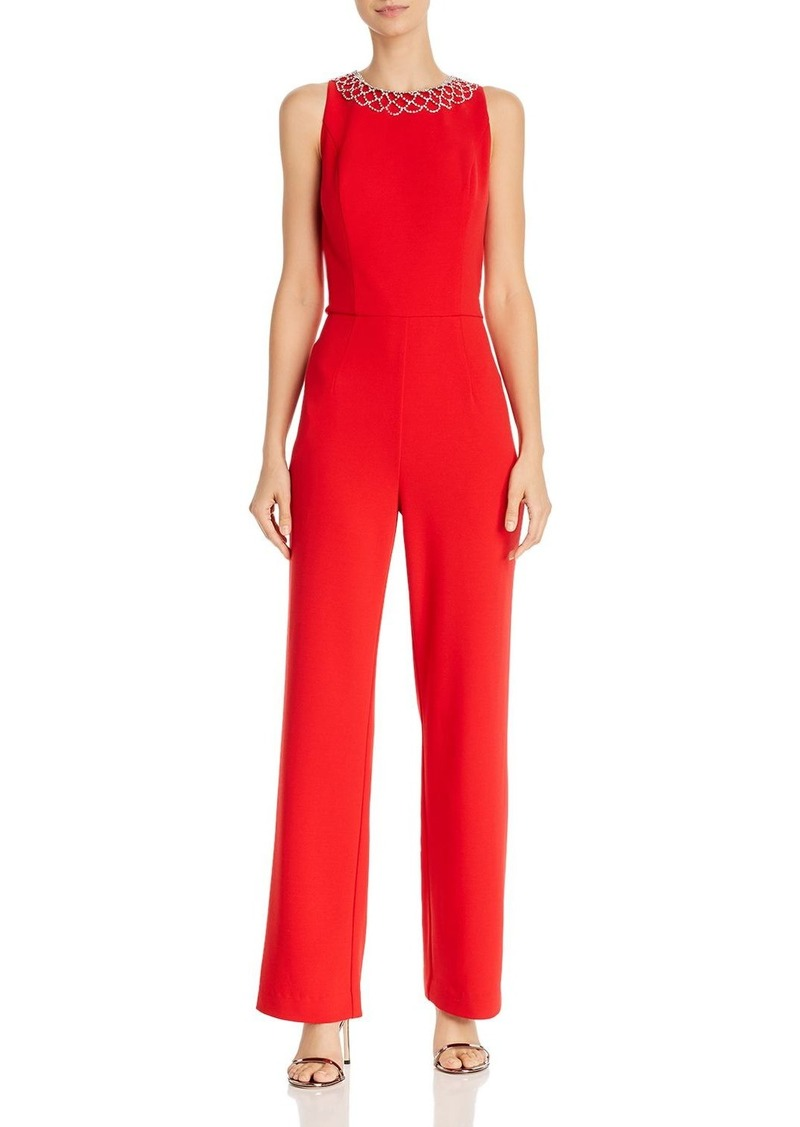 Laundry by Shelli Segal Rhinestone-Embellished Stretch-Crepe Jumpsuit - 100% Exclusive