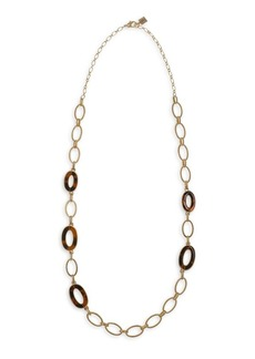 Laundry by Shelli Segal Riverside Retro Goldtone and Faux Tortoiseshell Link Necklace