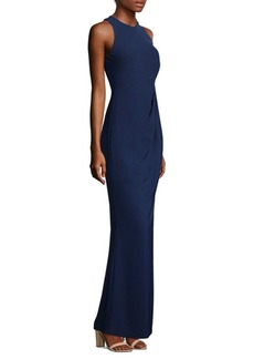 Laundry by Shelli Segal Ruched Floor-Length Gown