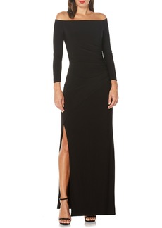 Laundry by Shelli Segal Ruched Gown