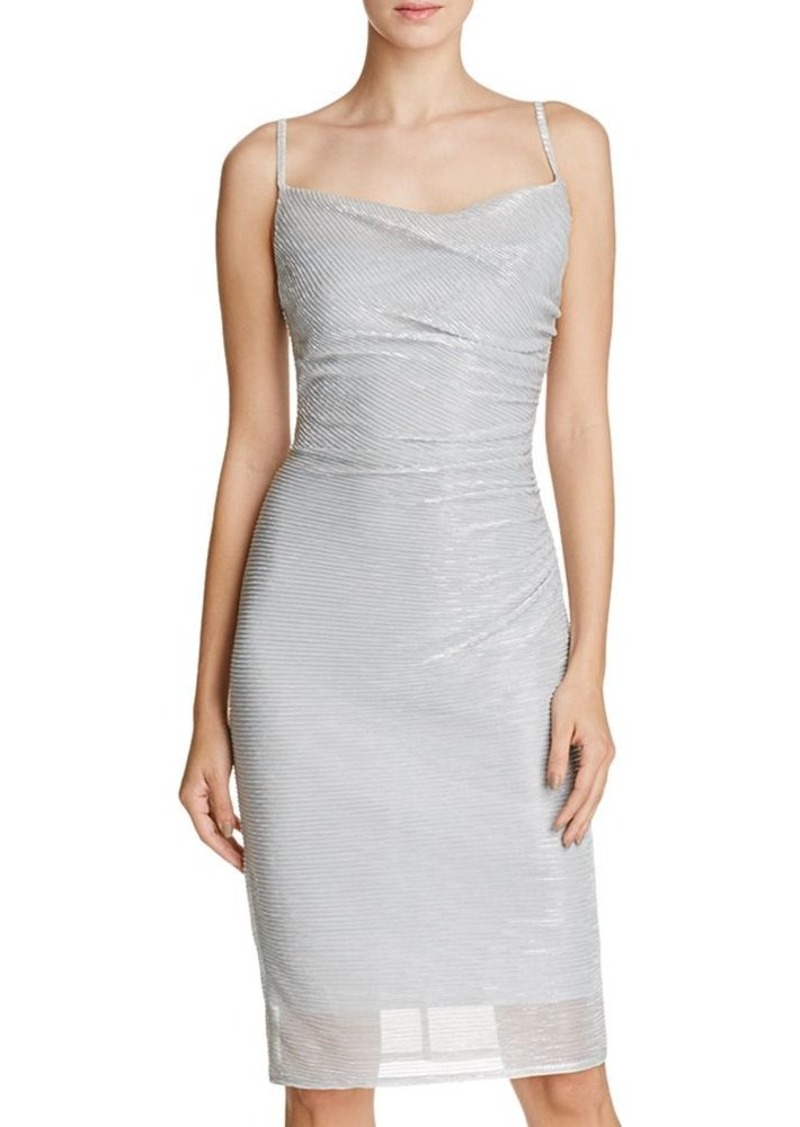 Laundry by Shelli Segal Ruched Metallic Dress