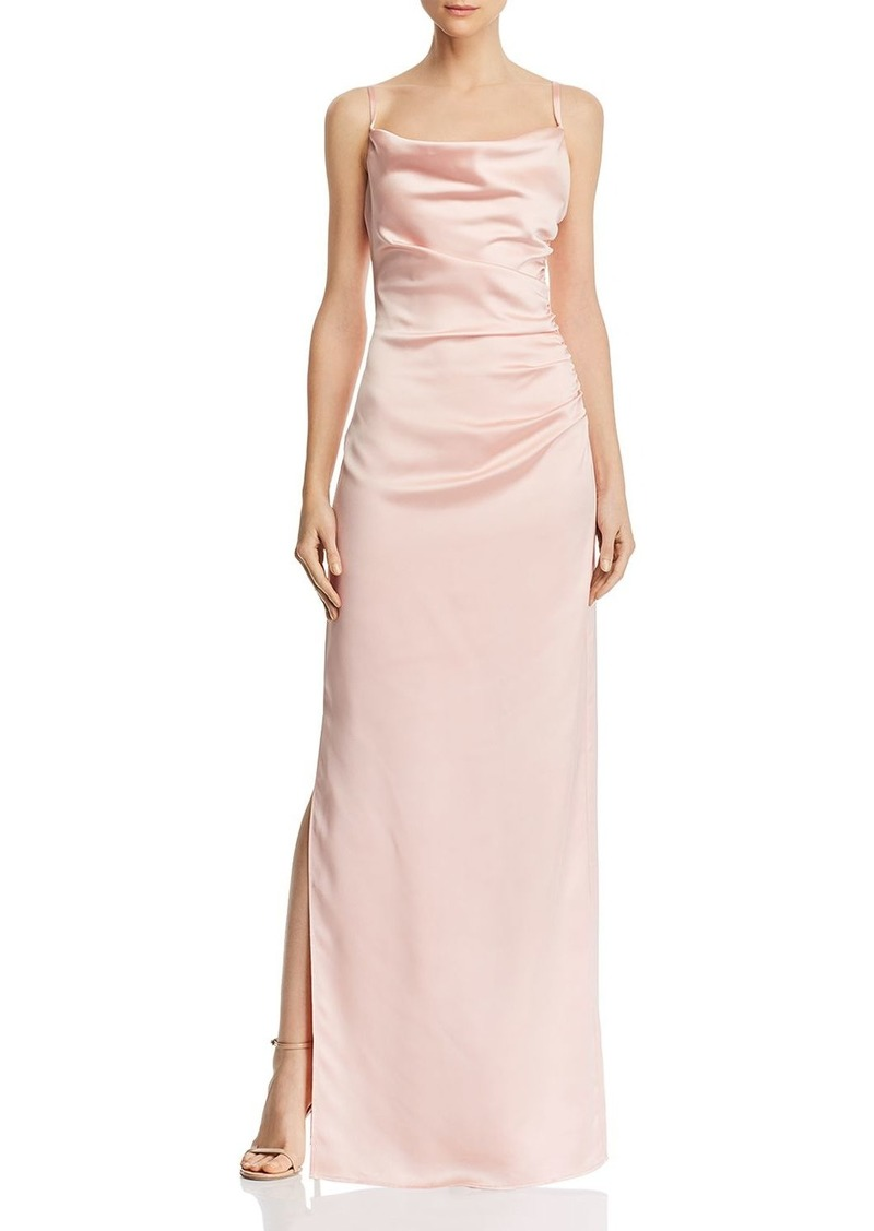 Laundry by Shelli Segal Ruched Satin Gown