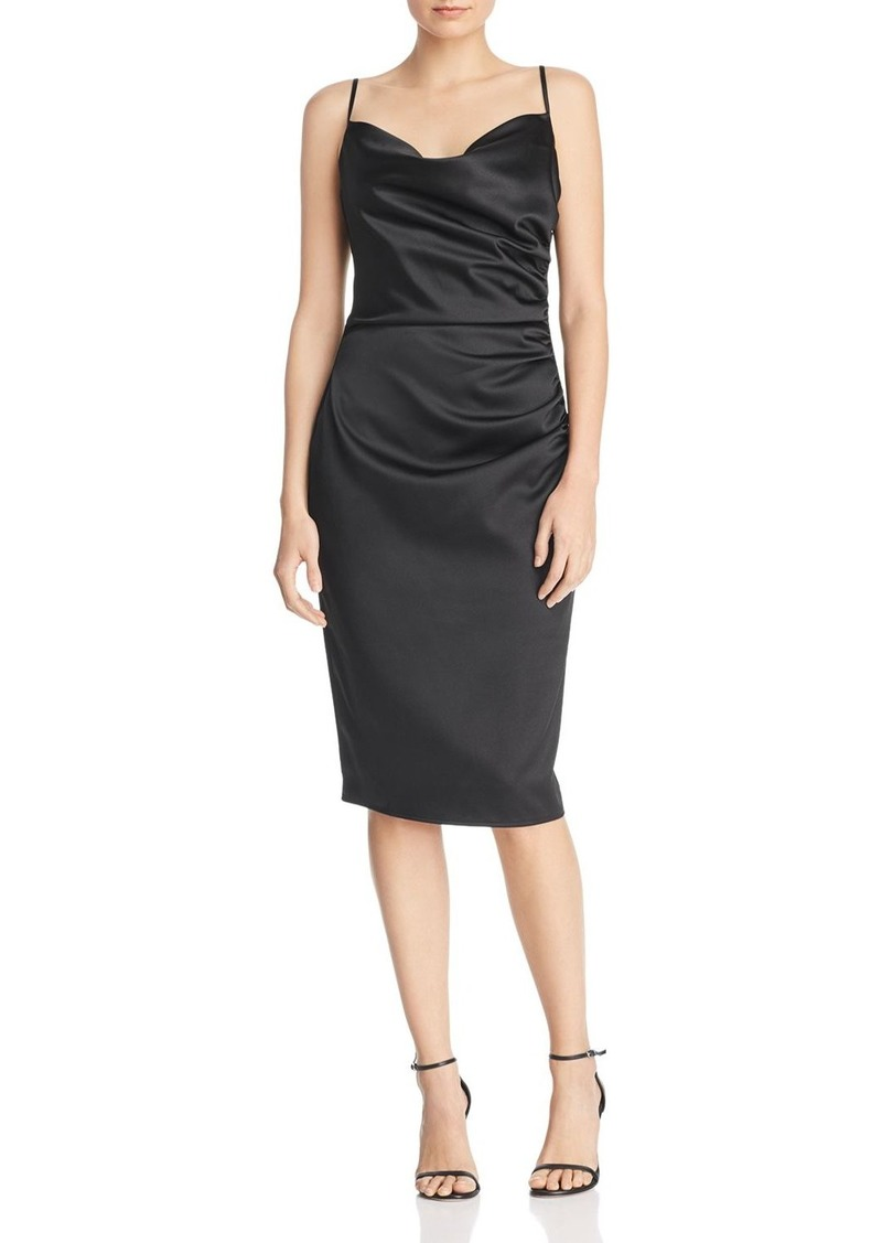 Laundry by Shelli Segal Ruched Satin Sheath Dress - 100% Exclusive