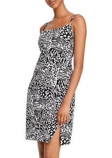 Laundry by Shelli Segal Ruched Zebra-Print Mini Dress - 100% Exclusive