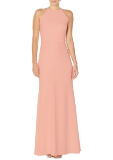 Laundry by Shelli Segal Ruffle Back Floor-Length Gown
